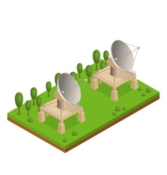 Satellite Dish Isometric View vector image