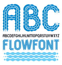 Set of trendy pop capital english alphabet vector
