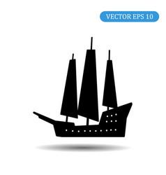ship icon eps 10 vector image