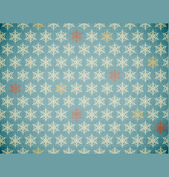 snowflakes repeatable pattern vector image