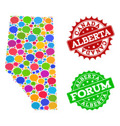 Social network map of alberta province with talk vector