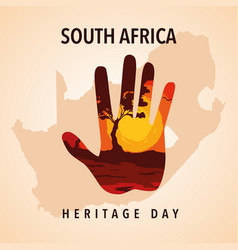 South africa heritage day poster vector