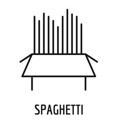 spaghetti icon outline style vector image