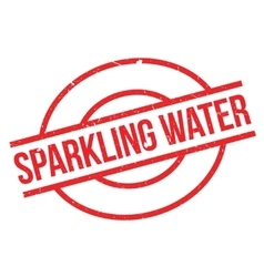 Sparkling Water rubber stamp vector image