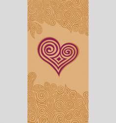 Swirly heart vector