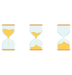 Three hourglass vector image