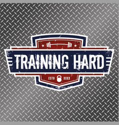training hard vector image