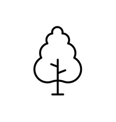 tree icon icon green plants forest trees vector image