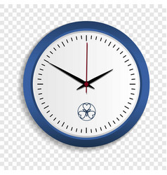 Wall clock icon realistic style vector