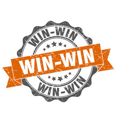 win-win stamp sign seal vector image