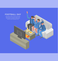 world football day concept background isometric vector image