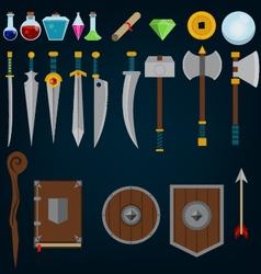 Fantasy medieval game assets vector image