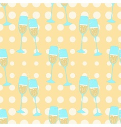 Holidays and champagne vector image