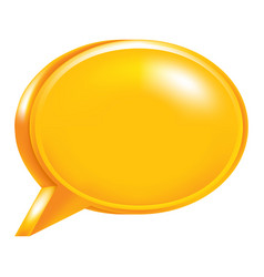 orange empty speech bubble icon vector image vector image