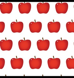 red apple repeatable seamless pattern vector image vector image