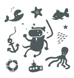 Symbol set of water activities vector image vector image