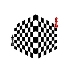 two chess pieces vector image