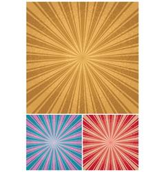 vintage radial background vector image