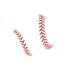 baseball ball on white background vector image vector image
