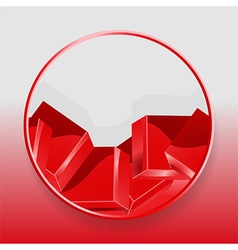Geometric cubes 3D border on red and gray vector image