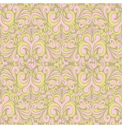 Seamless vintage bright green background vector image