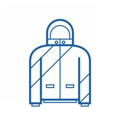 Sport Jacket Outline Icon vector image vector image