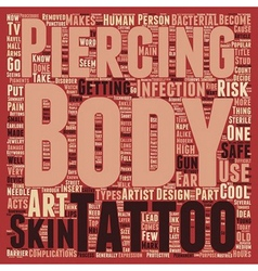 Body Art It s Cool To Be Safe text background vector image vector image