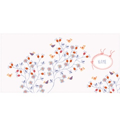 Greeting card bacgkround with flowers vector image vector image