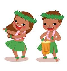 little hula dancers vector image vector image
