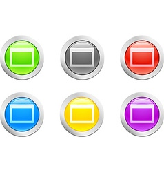 Open button vector image