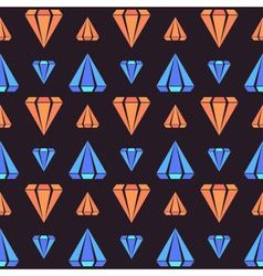 Retro contrast seamless pattern with diamonds vector image vector image