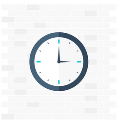 time logo watch icon flat vector image