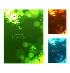 Abstract circular bokeh background vector image