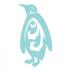 decorative penguin vector image