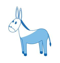 donkey manger animal character christmas vector image