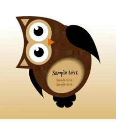 owl frame vector image