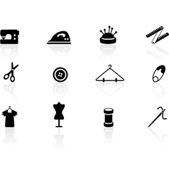 Sewing symbols vector image