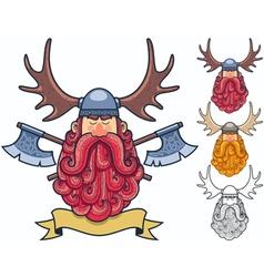 Viking Portrait 2 vector image vector image