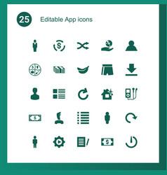 25 app icons vector