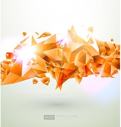 Abstract summer background with orange diamonds vector