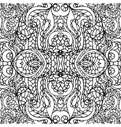 Abstract symmetry swirl ethnic seamless pattern vector