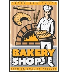 Bakery Shop Poster vector image