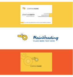 beautiful whistle logo and business card vertical vector image