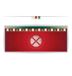 Belarusian card with national pattern and ribbons vector image