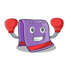 Boxing towel character cartoon style vector