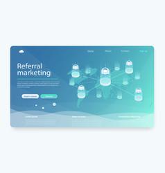 business partnership referral program strategy vector image