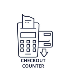 checkout counter line icon concept checkout vector image