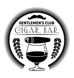 Cigar bar logo simple style vector