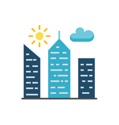 city building flat icon vector image