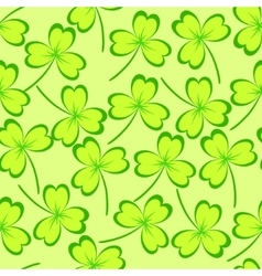 Clover leaves seamless pattern vector image